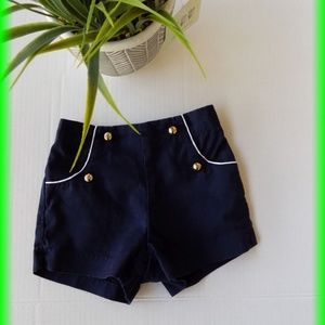 Janie and Jack Navy Double Button Shorts
